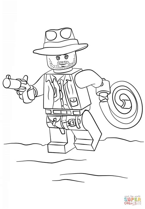 Lego Indiana Jones coloring page Free Printable Coloring