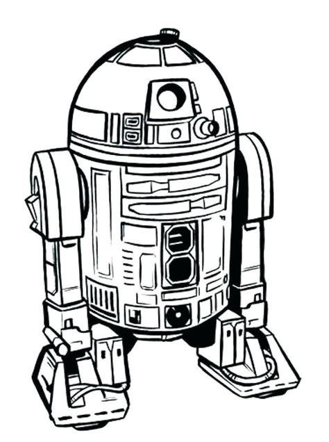 Lego R2D2 and C3PO coloring page Free Printable Coloring