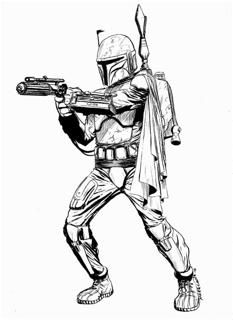Lego Star Wars Boba Fett Coloring page Star Wars misc