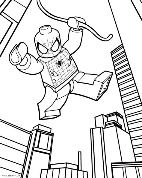 Lego coloring pages for kids to print and color