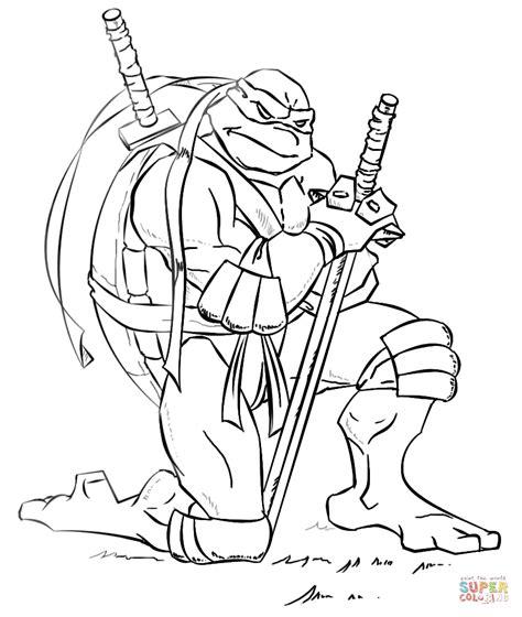 Leonardo from Ninja Turtles coloring page Free Printable