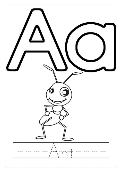 Letter A Coloring Pages Letters of the Alphabet Activities