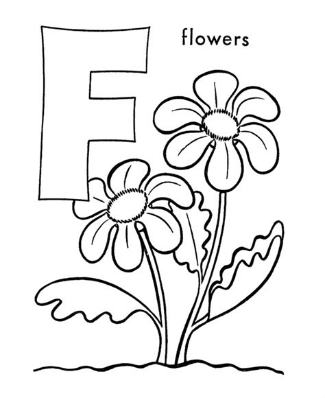Letter F Coloring Page free printable letters of the
