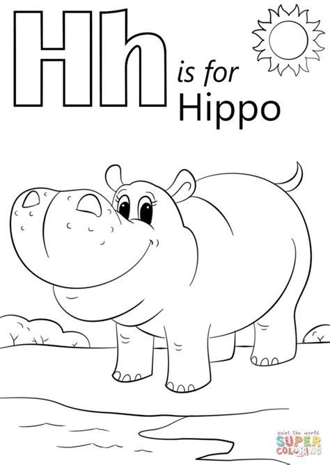 Letter H Animal Coloring Pages DLTK Kids