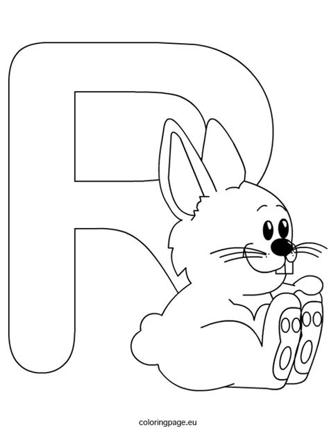 Letter R Coloring Pages Letters of the Alphabet Activities