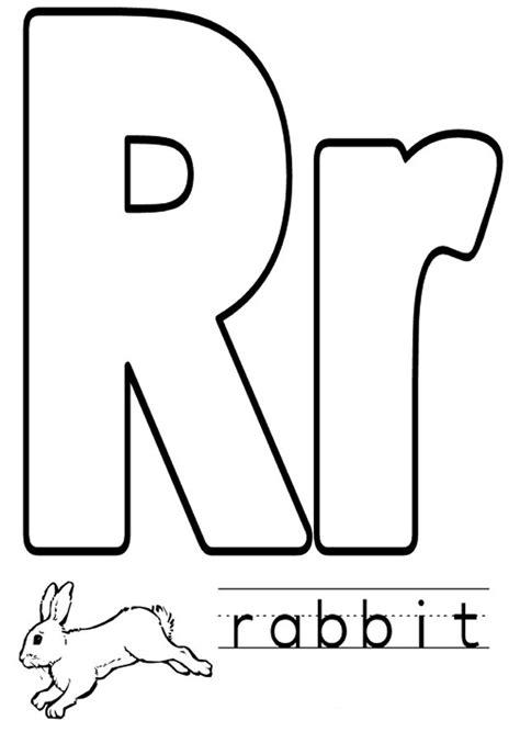Letter R Coloring Pages dltk teach