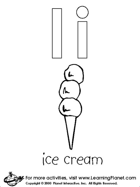 Letters Coloring Page coloring letters i All Kids Network
