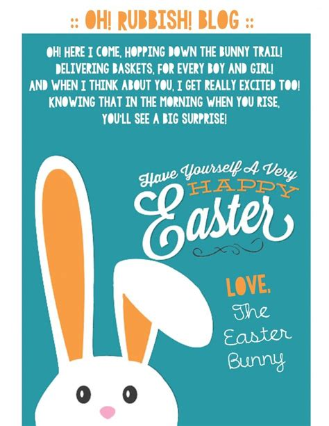 Letters from The Easter Bunny Easter Coloring Pages