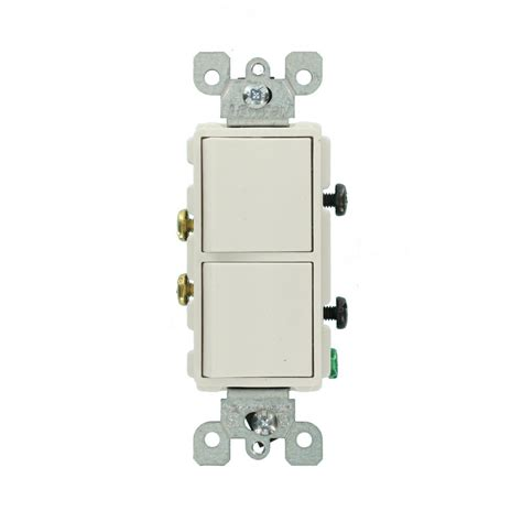 how to wire a single pole double light switch images leviton 5641 leviton decora 15 amp single pole dual switch white r62