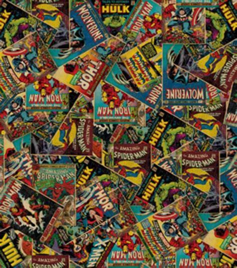 Licensed Cotton Fabric Marvel Retro Comic Jo Ann