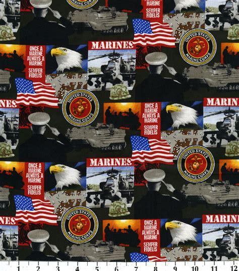 Licensed Military Fabric Marines Cotton JOANN