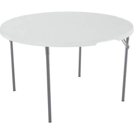 Lifetime 48 Round Fold In Half Table White Granite