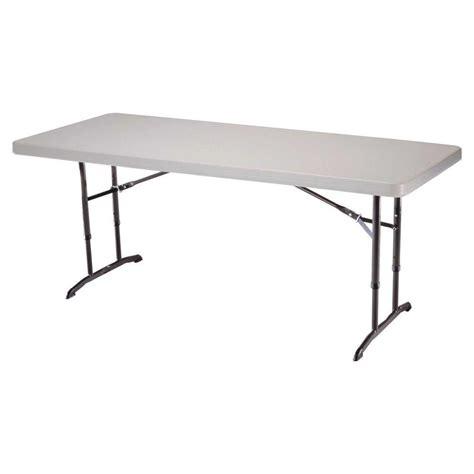 Lifetime 6 ft Almond Adjustable Height Folding Table