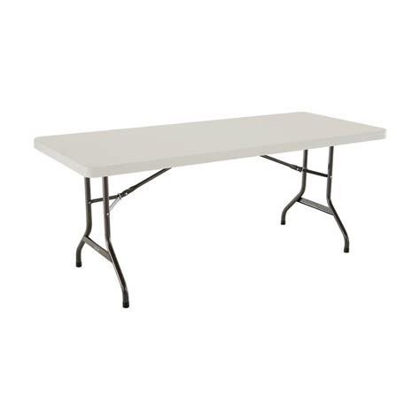 Lifetime 6 ft Almond Folding Utility Table 22900 The