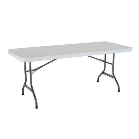 Lifetime 6 ft Granite Folding Utility Table in White