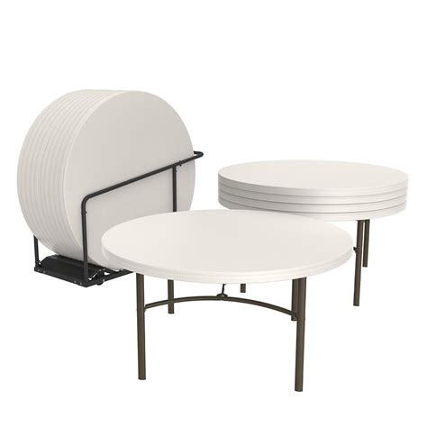 Lifetime 60 Round Folding Table 15 pk with Cart Costco