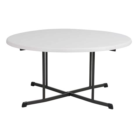 Lifetime 60 in Round Fold in Half Folding Table Walmart ca