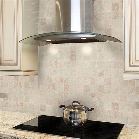Light Travertine 12 in x 12 in x 8 mm Mosaic Floor Wall Tile