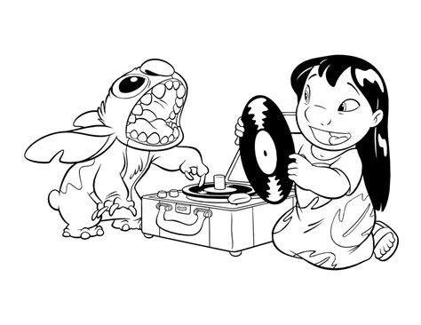 Lilo and Stitch coloring pages 33 free Disney printables