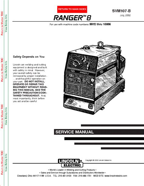 lincoln ac 225 arc welder wiring diagram images lincoln ranger 8 lincoln electric ranger 8 svm107 b service manual