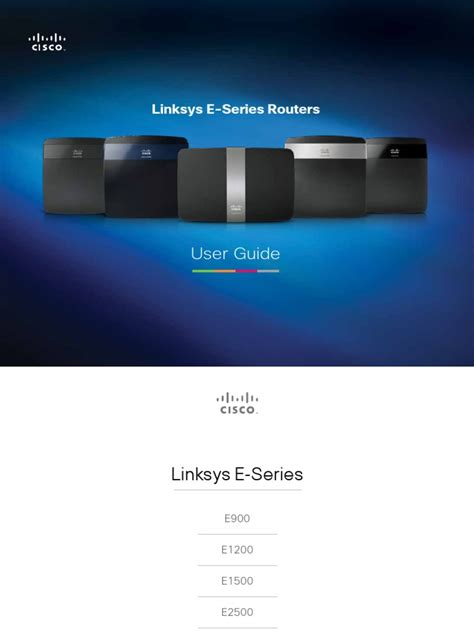 Linksys E Series Routers User Guide