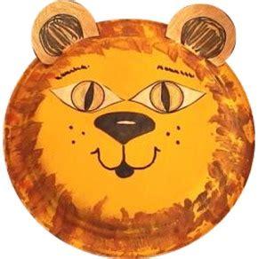 Lion Paper Plate Craft DLTK s Crafts for Kids