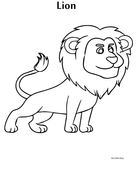 Lion Printable Bible Coloring Pages Kids Bible Maps