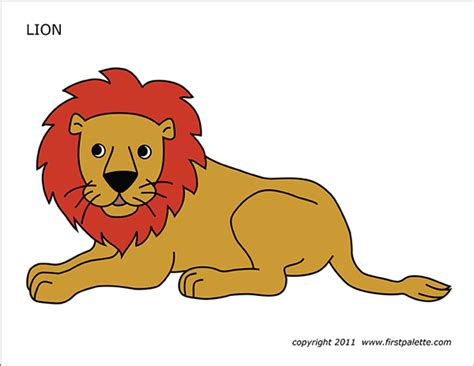 Lion Printable Templates Coloring Pages FirstPalette