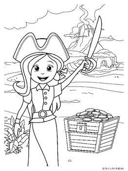 List of Pirate pictures coloring