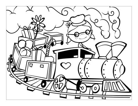 List of Train pictures coloring