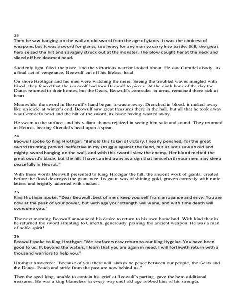 easy beowulf essay topics