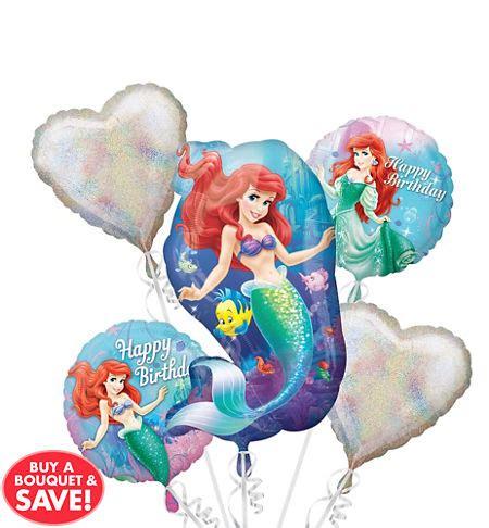 Little Mermaid Ariel Balloons Party City