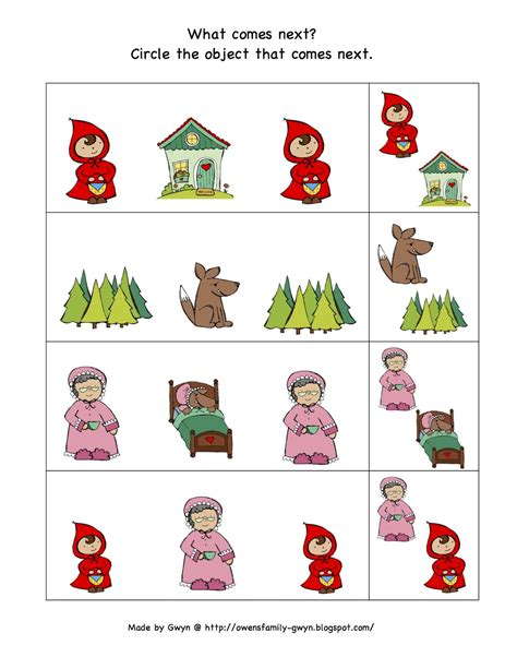 Little Red Riding Hood Pre K Pages Printables and