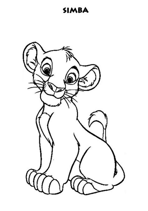Little Simba coloring page Free Printable Coloring Pages
