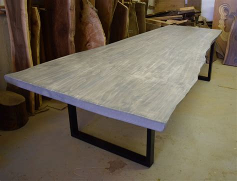 Live Edge Grey Ash Dining Table dining tables and sets