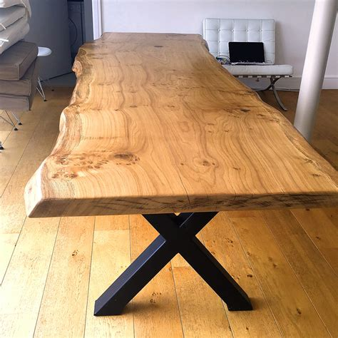 Live edge slab wood tables and furniture from Salvaged