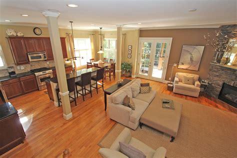 Living room Enchanting Open Floor Plan As Living Room