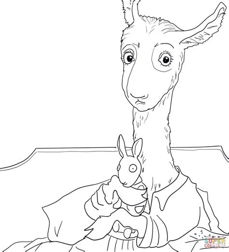 Llama Llama Red Pajama coloring page Free Printable