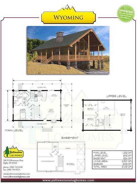 Log Cabin Floor Plans Yellowstone Log Homes