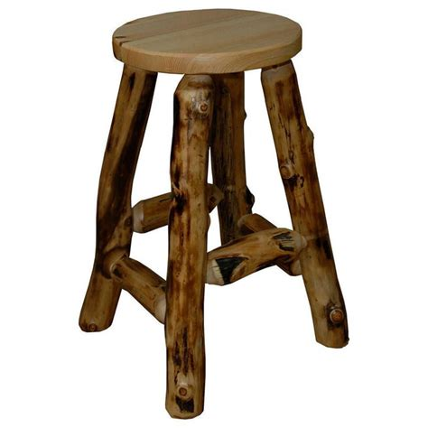 Log Chairs Rustic Log Chair Saddle Seat Wood Chair