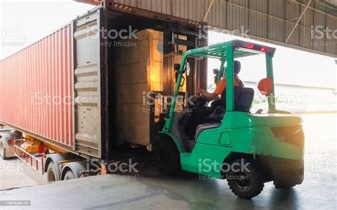 Logistics Features Container Truck and Pallet Load