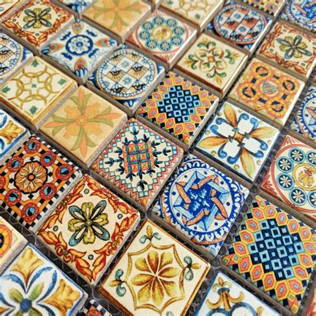 London Mosaic Tiles on Sheets Geometric Ceramic Tile