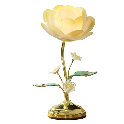 Lotus Flower Table Touch Lamp from Collections Etc