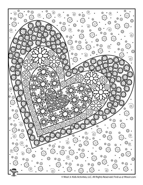 Love Coloring Pages Heart Coloring Pages Woo Jr Kids