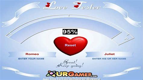 Love Meter Test Love Tester