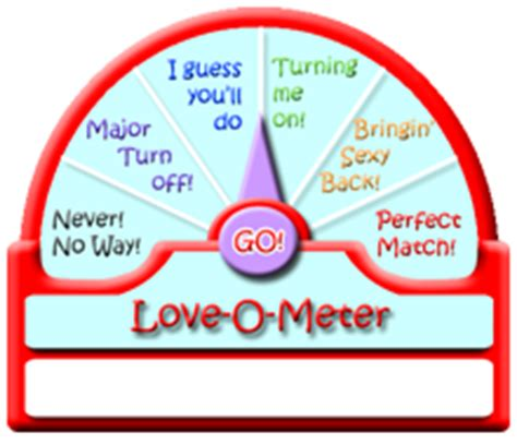 Love Test Calculator and Love Thermometer love o meter