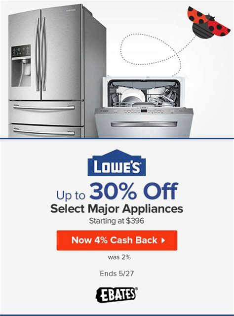Lowes Coupons Promo Codes 1 0 Cash Back Ebates