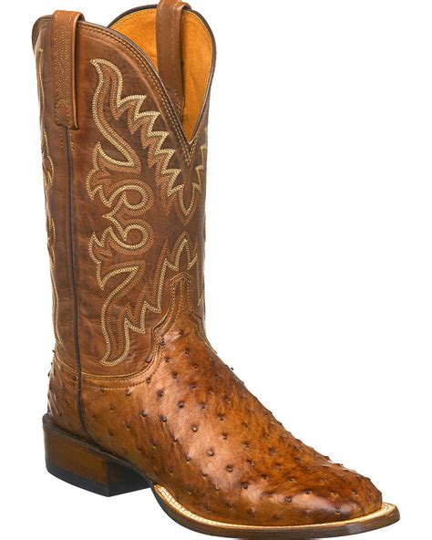 Lucchese Men s Josh Full Quill Ostrich Leather Western Boots