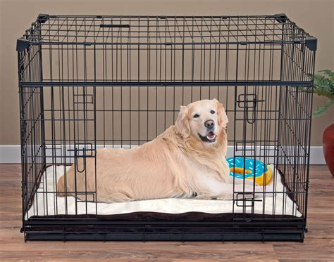 Lucky Dog Double Door Dog Crate with Pet Crate Pillow