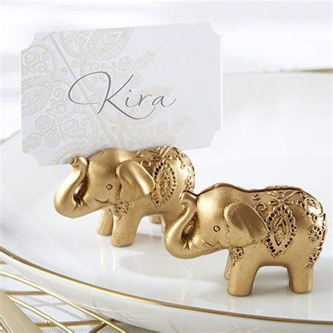 Lucky Golden Elephant Place Card Holders Beau coup